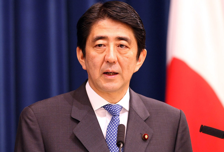 Japanese PM, Shinzo Abe
